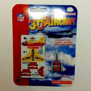 2002 NFL 3D Aircraft Kansas City Chiefs models B-1
